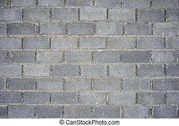 Concrete block wall