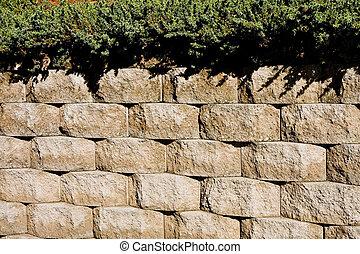 Concrete Blocks and Hedge