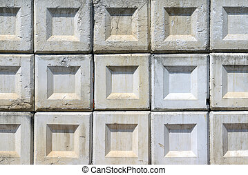 Concrete blocks - Stack of concrete blocks, texture...
