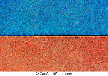 concrete Blue and red