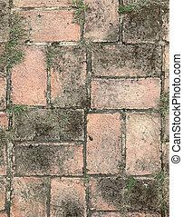 concrete brick block floor background