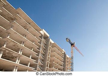 construction with crane