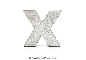 Concrete capital letter on white background