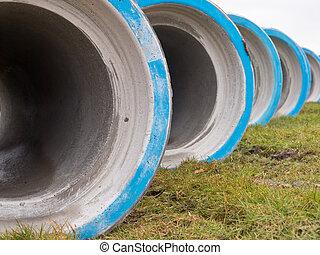 Concrete construction pipes