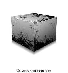 Concrete cube - vector illustration.
