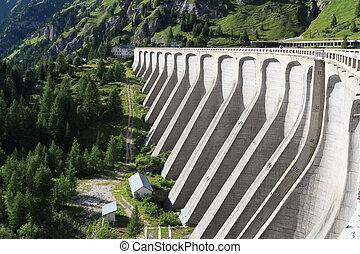 concrete dam - lake Fadaia