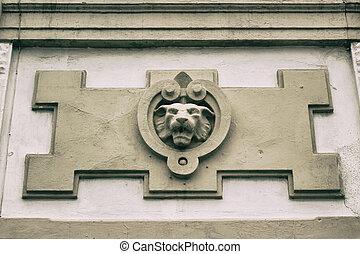 Concrete decoration lion
