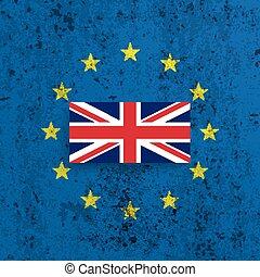 Concrete EU UK Flag