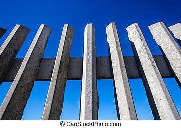Concrete Fence Blue Sky