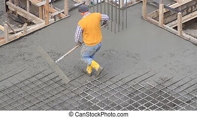Concrete flatwork finisher using a glider trowel. Specialty...