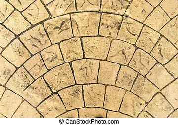 Concrete floor pattern