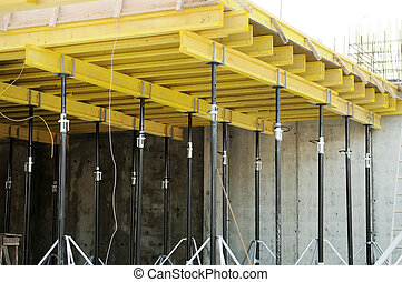 concrete form at construction site - construction equipment ...