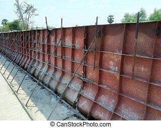 Concrete formwork of bridge