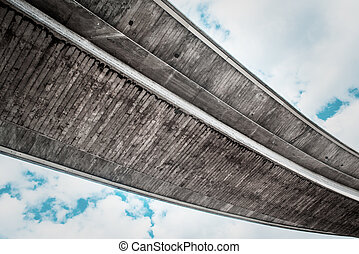 Concrete Freeway Overpass