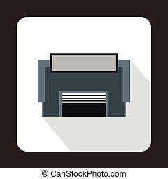 Concrete garage icon, flat style