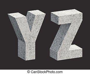 Concrete letters