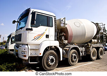 Concrete mixer - A truck with concrete mixer. It's used for ...