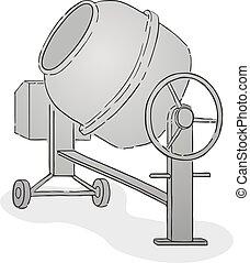 concrete mixer draw