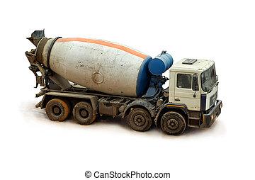 Concrete Mixer Truck. - Concrete Mixer Truck on a white ...