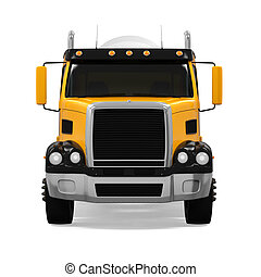 Concrete Mixer Truck isolated on white background. 3D render