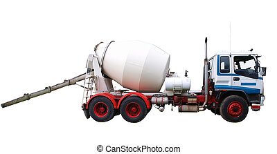 Concrete Mixer Truck isolated with clipping path