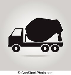 Concrete Mixer Truck symbol vector illustration