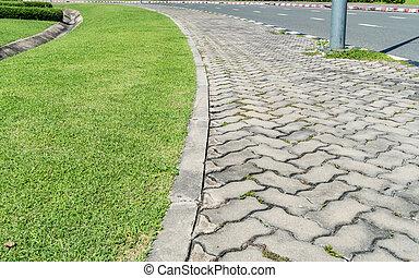 Concrete Pathway in garden