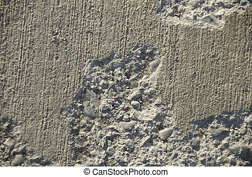 Concrete Pattern - Concrete sidwalk that has been damaged.