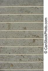 concrete pavement with white horizontal stripes