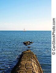 pier in ocean
