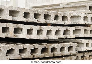 Concrete piling.