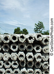 concrete pilings