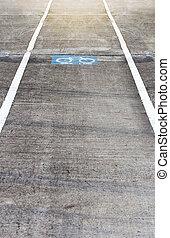 concrete road bicycle lane