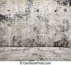 concrete room in grunge style, urban background