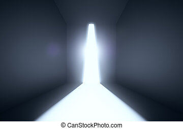 Concrete room with abstract light