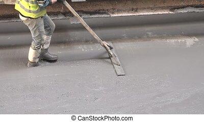 Concrete screed process - Construction concrete process by ...