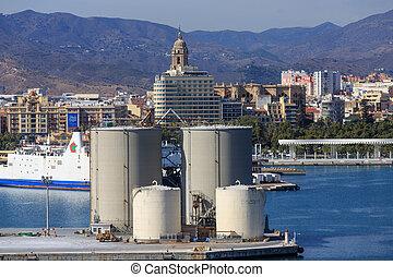 Shipping Tanks in Malaga Harbor