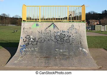 skateboarding ramp - concrete skateboarding ramp
