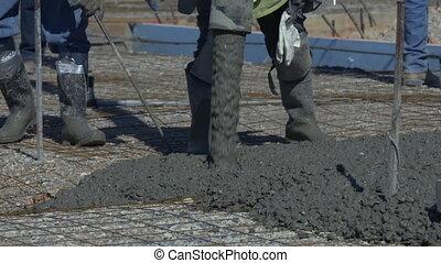 Concrete Slab - Pouring