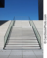 Concrete stairs - Stairway out of concrete in bright...