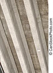 Concrete Stripes - Underside of a highway bridge, forming...