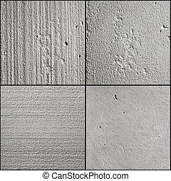 concrete surface - concrete background in four kinds of ...