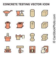 Concrete Testing Icon - Concrete testing vector icon set...