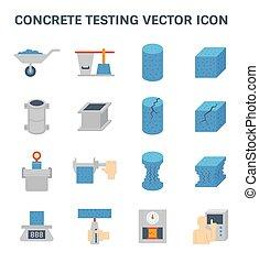 concrete testing icon - Vector icon of concrete strength...