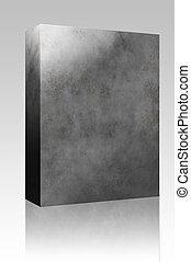 Concrete texture box package