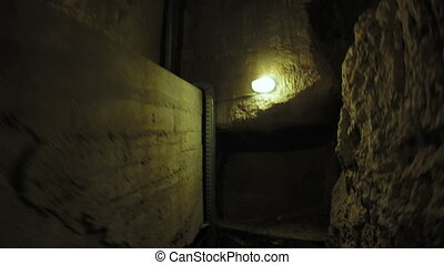Concrete tonel with lanterns