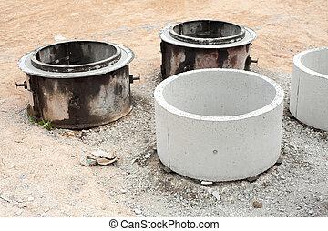 Concrete tubes