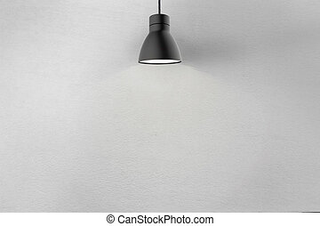 Concrete wall and ceiling lamp