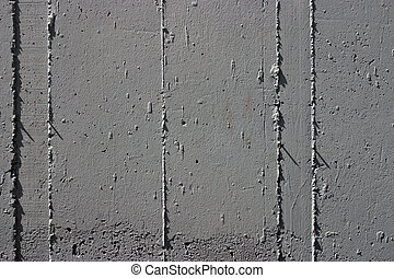 Concrete wall detail - Vertical formwork stamped on concrete...