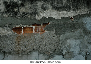 Concrete wall with cracked